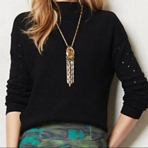 Anthropologie Moth Ceres Mock-Neck Sweater